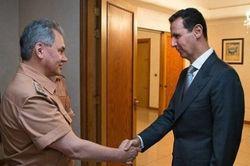 Шойгу по поручению Путина провел переговоры с Асадом
