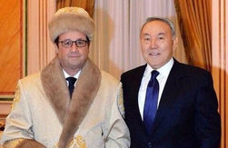 Фото Олланда в традиционной казахской одежде взорвало Интернет