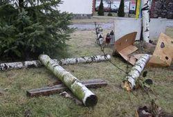 В Польше разрушили крест в память о погибших на киевском Майдане
