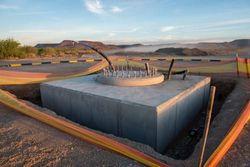 Завершена последняя стадия строительства основания телескопа MeerKAT