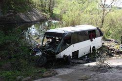 Пассажирский автобус упал с моста в Кировоградской области