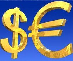 Курс евро продолжает снижение к доллару на Forex