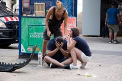 Свидетели теракта в Барселоне