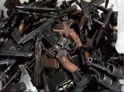 В Днепропетровске уничтожили тонну изъятого у населения оружия