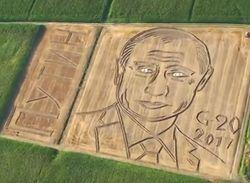 В Италии появился огромный лик Путина