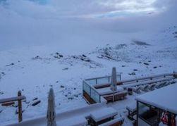 В разгар лета на Закарпатье выпал снег