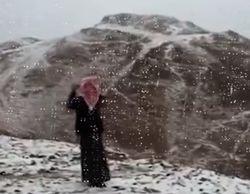 Природа удивила: Саудовскую Аравию накрыл мороз со снегом
