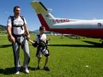 Виталий Кличко с сыном перед прыжком