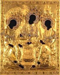 Золотой оклад иконы