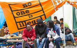 Полиция Мюнхена разогнала палаточный городок голодающих иммигрантов
