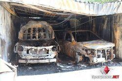 В Николаеве сгорели Lexus и Toyota, принадлежавшие экс-руководителю УБОПа