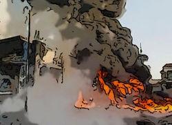 Взрыв на АЗС