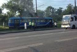 В Одессе на ходу горел трамвай – последствия