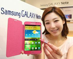 Розовый Galaxy Note II от Samsung активно обсуждают в сети