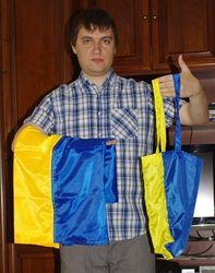 Патриотизм по-львовски – предлагают сумки а-ля национальный флаг