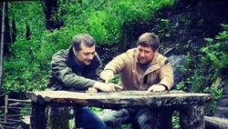 Кадыров разместил в Instagram фото рыбалки с четой Сурковых