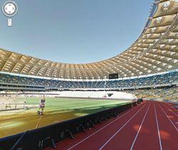Google Street View позволяет прогуляться по стадионам Евро-2012