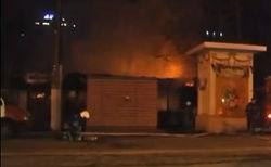 Пожар в центре Одессы - сгорело кафе и 2 автомобиля