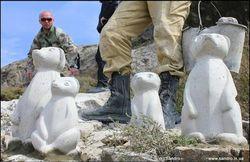 В Судаке антивандальные скульптуры… стащили через пару часов
