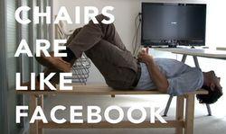 Facebook выпустила рекламный ролик-сравнение себя со стулом