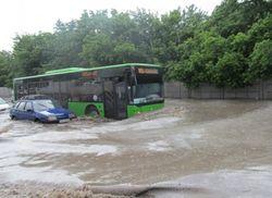 В Харькове прошел сильный ливень - затопило несколько районов города