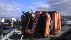 """В Одессе из-за """"Газели"""" разбилось 40 автомобилей"""