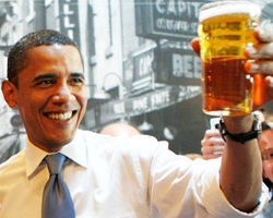 Уроки PR: Обама рекламирует пиво из меда