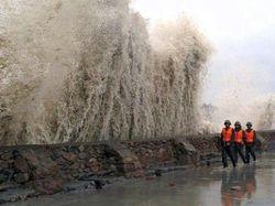 Тайфун «Гучол» обрушился на Японию