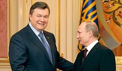 Путин поздравил Януковича и оценил российско-украинские связи