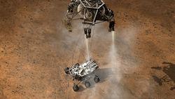 Марсоход Curiosity совершил посадку на Красной планете