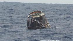 Космический корабль Dragon приводнился в акватории Тихого океана