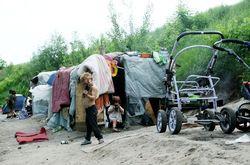 Под Киевом остановился табор цыган