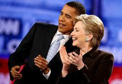 Барак Обама-Хиллари Клинтон