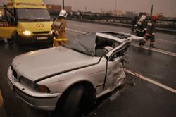 BMW в Москве буквально разорвало пополам. ТОП аварий в столице РФ