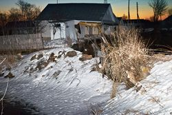 ЧП: в Нижегородской области РФ три дома ушли под землю