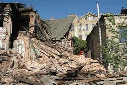 В Харькове обрушился дом 1917 года, погиб мужчина