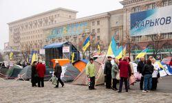 В Харькове снесены палатки участников акции протеста против языкового закона
