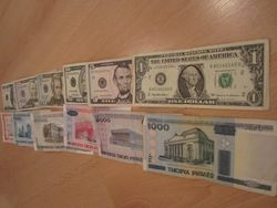 Белорусский рубль продолжает укрепляться к канадскому доллару,евро и франку