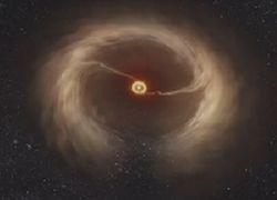 В созвездии Волка телескоп ALMA увидел, как рождается звезда с планетами