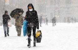 На Донбассе погодная аномалия: пошел снег