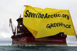 """Захват Greenpeace платформы """"Газпрома"""" в Арктике - объявление войны"""