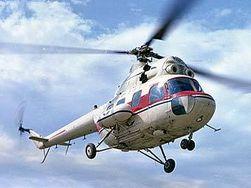 Вертолет Ми-2 загорелся при вынужденной посадке