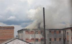Винницкая тюрьма №1 пылает пламенем