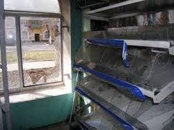 В Донецке магазин на первом этаже жилого дома подожгли «коктейлем Молотова»