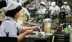 Промышленное производство в Японии снова выросло