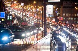 В очередной раз вечерний Киев встал в многокилометровых 9-бальных пробках