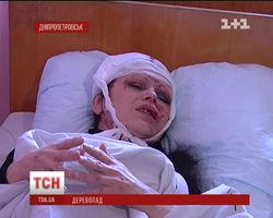 В Днепропетровске упавшая ветка расколола череп прохожей
