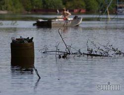 Гидропарк в Киеве под водой, горожане опасаются потопа
