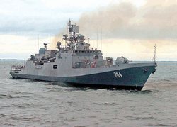 Красавец фрегат Trikand начал госиспытания в Балтийске