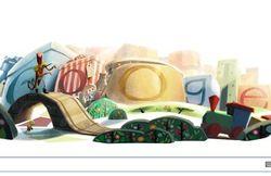 В честь православного рождества Google разместила праздничный логотип